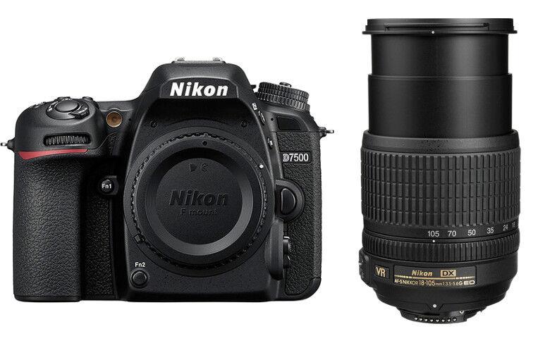 Nikon D7500 + 18-105mm VR - 2 ANNI DI GARANZIA IN ITALIA