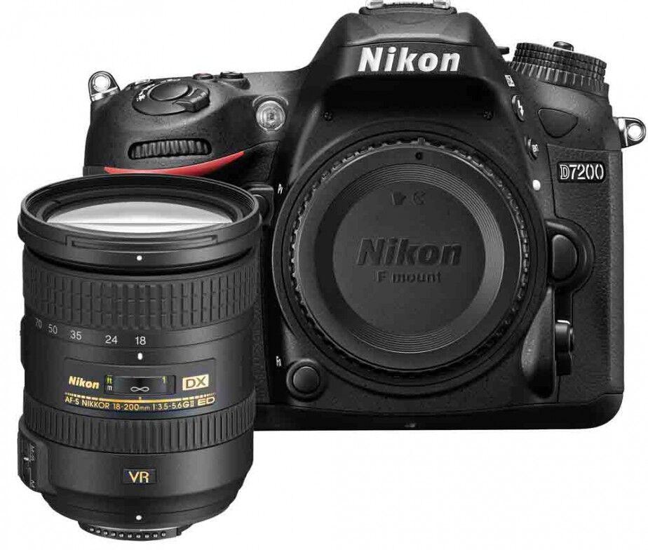 Nikon D7200 + 18-200mm VR II - MANUALE IN ITALIANO - 4 ANNI DI GARANZIA