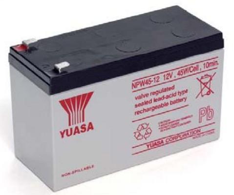 Yuasa Batteria Piombo-Acido per UPS 12V 8,5Ah, NPW45-12 (Faston 250...