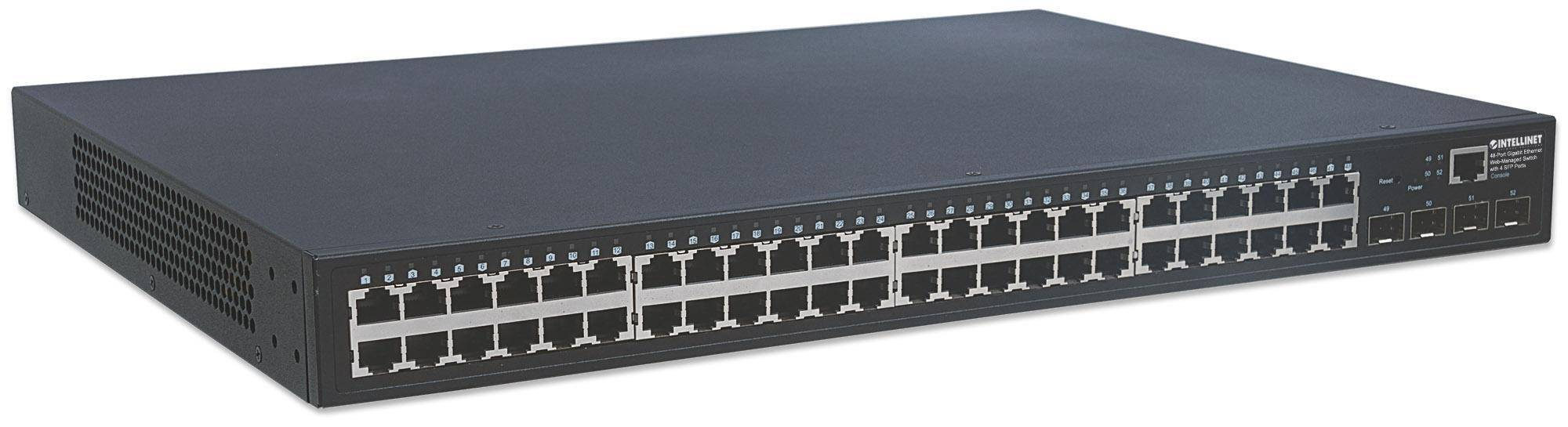 intellinet switch ethernet 48 porte gigabit web-managed con 4 porte sfp