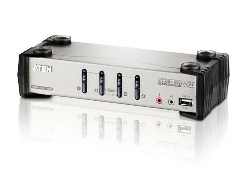 aten kvm vga audio switch 4 porte usb/ps2 osd, cs-1734b