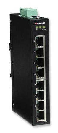 intellinet fast ethernet switch industriale 8 porte slim ies-1080a