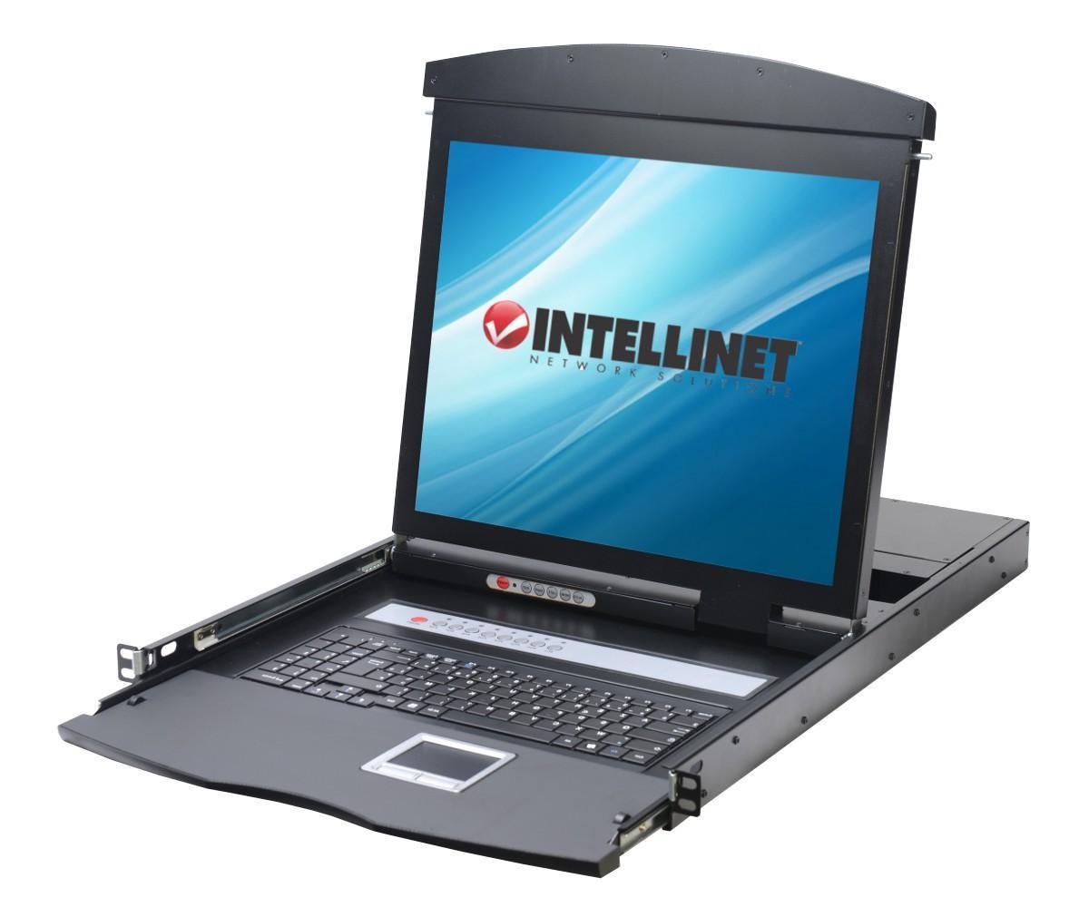 """Intellinet Console KVM USB/PS2 con LCD 17"""" da Rack 19"""" Dual Rail"""