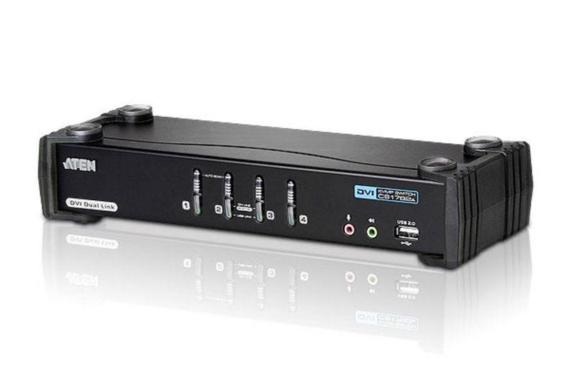 Aten Switch KVMP Dual Link/audio USB DVI a 4 porte CS1784A