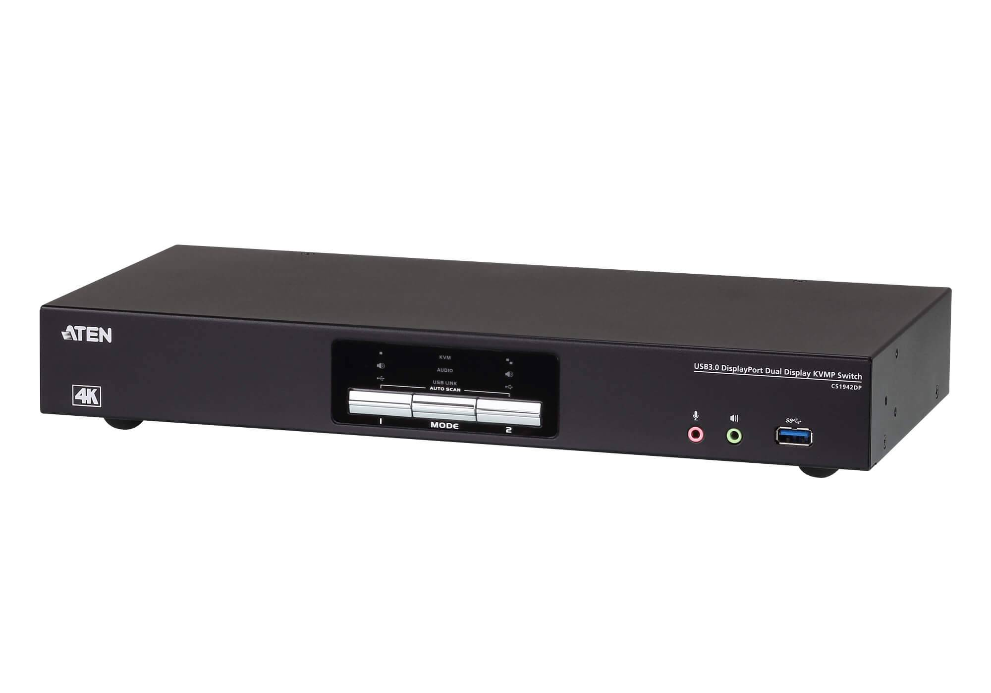 Aten Switch KVMP Schermo Doppio USB3.0 4K DisplayPort 2 porte,...