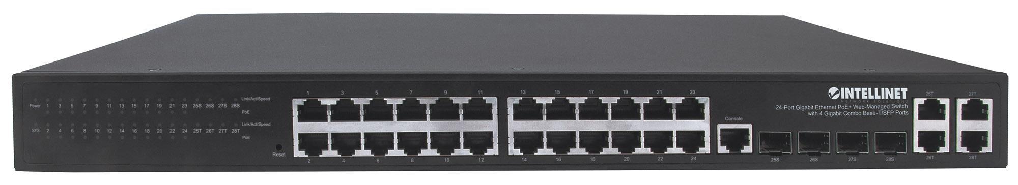 Intellinet Switch 24p. Gigabit Ethernet PoE+ con 4p. Gigabit Combo...