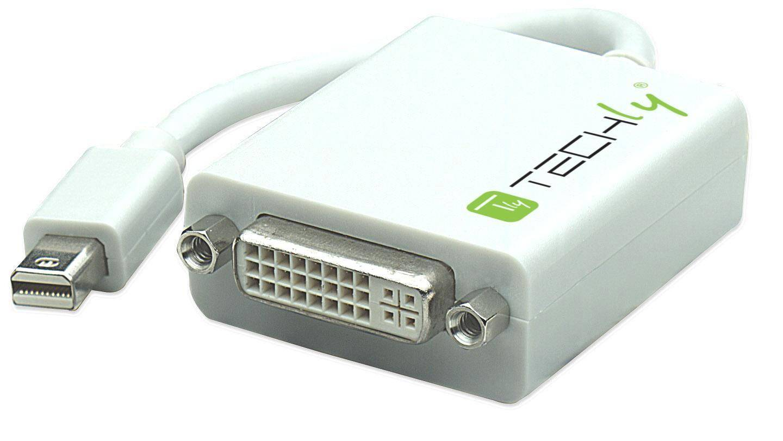 Techly Adattatore Mini DisplayPort (Thunderbolt) 1.1 / DVI 15cm Bianco