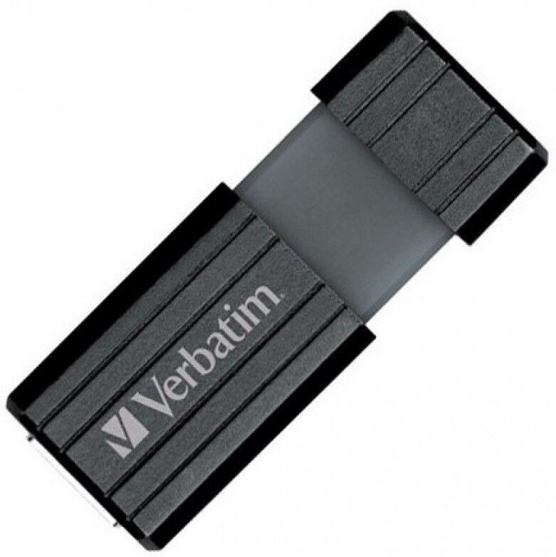 verbatim memoria usb 2.0 pinstripe da 128gb colore nero