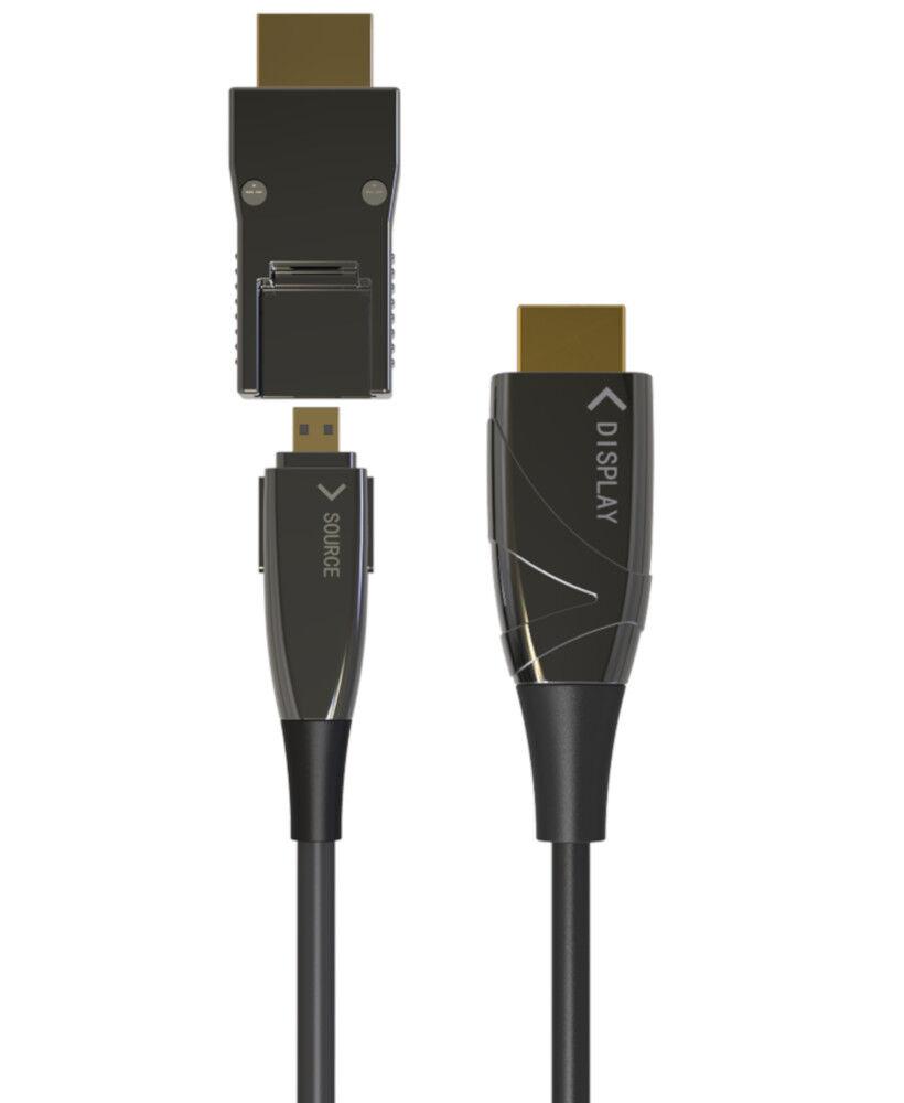 techly cavo hdmi™ a/a micro hdmi™ aoc in fibra ottica 4k 100m