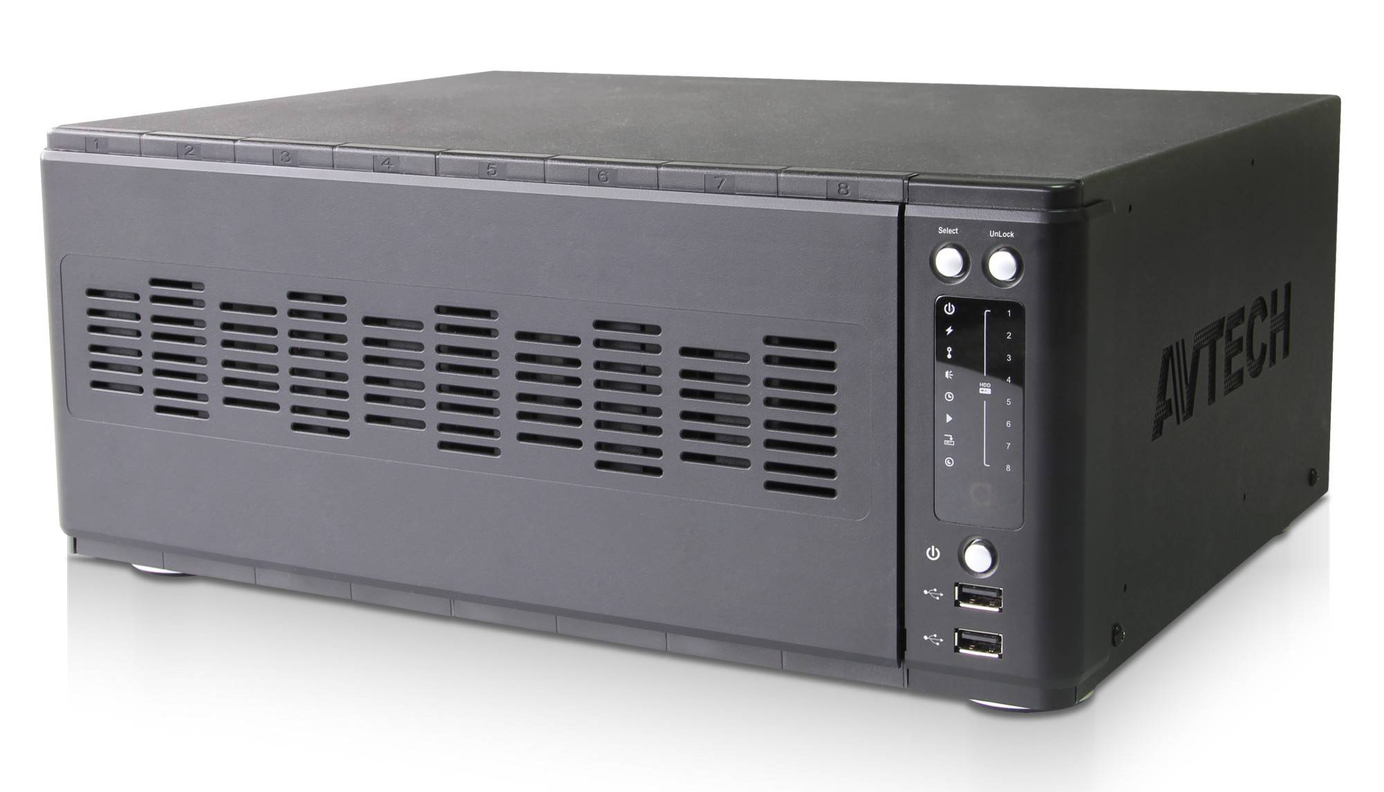 Avtech Videoregistratore NVR 36 Canali 8-bay H.265 AVH8536