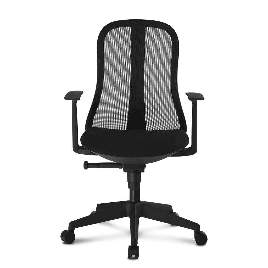 techly sedia per ufficio con schienale ergonomico nero