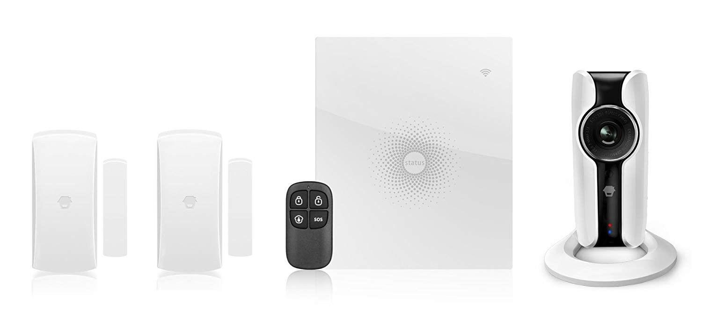 Chuango Kit Sistema di allarme WiFi con telecamera HD WiFi AWV Plus