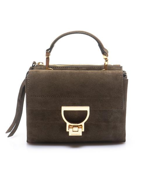 coccinelle arlettis suede borsa pelle vitello e camoscio mini bag by hand, with shoulder...