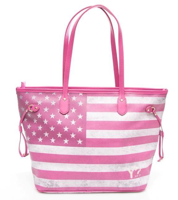ynot flag color usa shopping bag a spalla