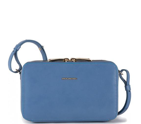piquadro blue square pochette con tracolla