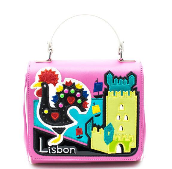 Braccialini Tua Cartoline Lisbon Borsa a mano, con tracolla