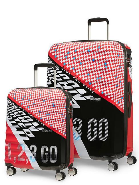 samsonite american tourister wavebreaker set trolley grande + bagaglio a mano