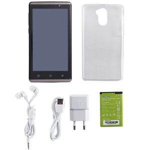 E-Risun ER C7 De Doble Tarjeta SIM En Espera De 5.0 Pulgadas Para Android Teléfono Opcional De 4 Colores -Café