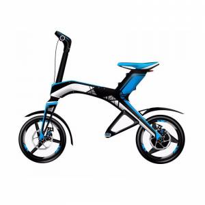 Robstep Bicicleta Electrica X1 Plegable Con Bocinas Bluetooth Robstep-Blue
