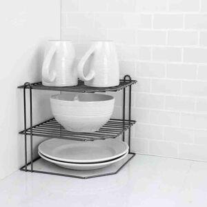 Home Basics Rack Para Organizar Platos Onyx