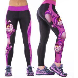 E-Ihome Eh Los Pantalones De Yoga Pantalones De Gimnasio Deportes Fitness Stretch-Gato De Cheshire