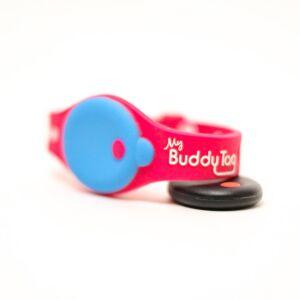 MiCarrito.mx Pulsera De Seguridad Infantil My Buddy Tag Monitor Para Bebés, Herramienta De Apoyo En El Cuidado De Tus Hijos, Mod. Silicon Rosa