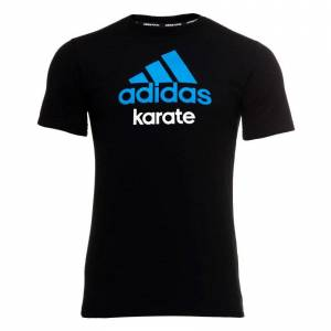 Adidas Camiseta  Karate Ng/az-Negro