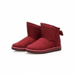 Generic Botines Invierno Caliente Casual Mujer -Rojo