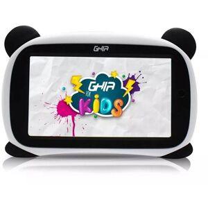 """Ghia Tablet  Kids Panda 7"""" Quad Core 1GB 8GB Blanco/Negro Ojos Cafes GTABPNDC"""