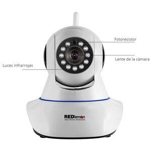 RedLemon Cámara De Seguridad Wifi Hd, Con Visión Nocturna Para Interiores.