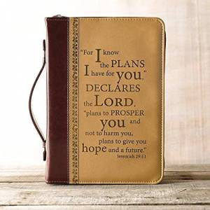Christian Art Gifts Luxleather I Know the Plans Medium