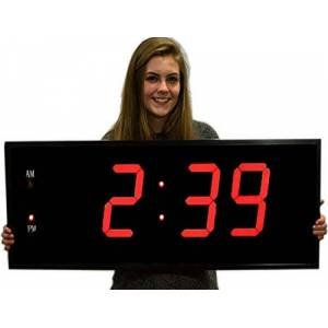 Grande LED Digital reloj gigante de 20 pulgadas de número rojo reloj de pared con Control remoto