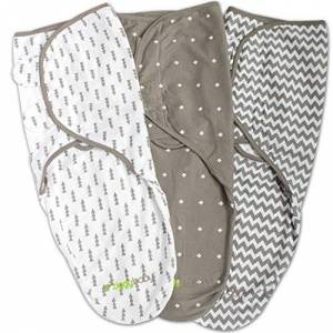 Manta para bebé ajustable, algodón suave en color gris  Regalos para bebé, regalo de bebé, regalos para recién nacidos, juegos de regalo para recién nacidos, set de regalo para recién nacidos, set de regalo para bebé, regalo para bebé