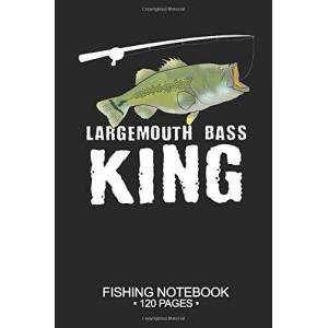 "Davis, Lukas Largemouth Bass King Fishing Notebook 120 Pages: 6""x 9'' Wide Rule Lined Paperback Largemouth Bass Fish-ing Freshwater Game Fly Journal Composition ... Planner Notepad Log-Book Paper Sheets School"