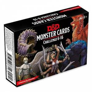 Wizards of The Coast Dungeons & Dragons Spellbook Cards: Monsters 6-16 (D&D Accessory) (Dungeons & Dragons, D&D)