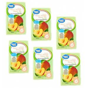 Great Value Mezcla de té verde de mango de melocotón de gran valor, 10 unidades (paquete de 6)