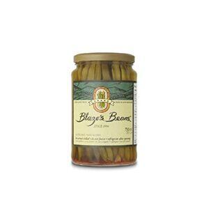 Blaze's Beans Blazes Frijoles verdes en escabeche picantes   1 jarra   Decoración perfecta para tu Bloody Mary (23 oz)