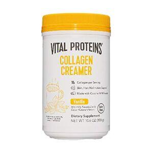 Vital Proteins Crema de café [vainilla] No lácteos cremador para café en polvo con péptidos de colágeno, bajo azúcar para apoyar el cabello saludable, piel, uñas  crema para café con MCT de aumento de energía, 300 ml