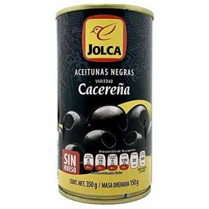 Jolca Aceitunas Negra Sin Hueso  4 Piezas De 350 G.