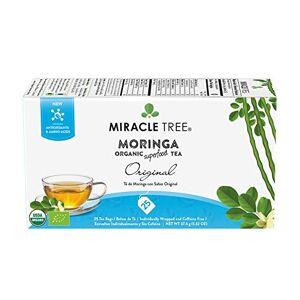 Miracle Tree Té orgánico Moringa Superfood, 25 bolsas de té selladas individualmente