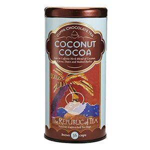 The Republic of Tea Cocoa Cuppa Chocolate Herbal Tea, Gourmet Low Caffeine Dessert Tea