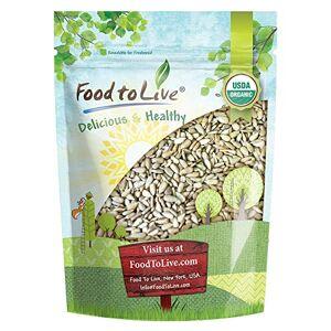 Food to Live Semillas de girasol germinadas orgánicas de  (sin OGM, Kosher, sin cáscara, sin sal, granos crudos, veganos, a granel) (2 Libras)