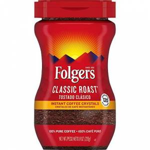 Folgers Cristales de caf instantneo, tostado clsico