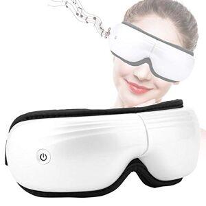 riuty Masajeador de ojos eléctrico  Máquina de masajeador de templo de ojo inalámbrico inteligente recargable plegable recargable con calor, compresión de aire, vibración y música para aliviar los ojos sec(Blanco)