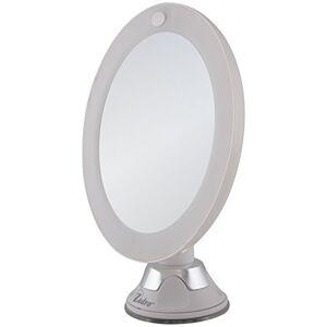 Zadro 10X Espejo con ventosa y luz LED de próxima generación, color blanco