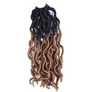 Answer 6Pcs/Lot 12inch Goddess Locs Crochet Twist Soft Synthetic Braiding Hair Extension Wavy Faux Locs Havana Mambo Twist Hair Extension 36 Roots (12inch(6-PACKS), 1A) Fashionair (12inch(6PACKS), OT27#)