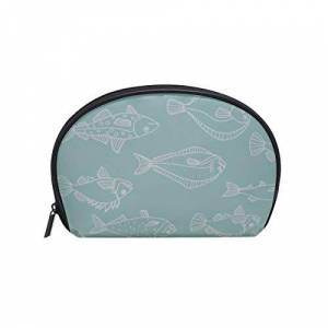 JXCSGBD Shell Shape Women Toiletries Bag Cute Cartoon Sea Food Fish Squid Print Toiletry Bag Men Cosmetic Gift Bags Portable Travel Multifunction Storage Bag With Zipper For Women