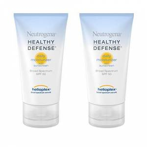 Neutrogena Healthy Defense Daily Moisturizer with Helioplex, SPF 50, 1.7 Ounce (Pack of 2)