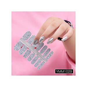 Legoushop Polvo del brillo de la pendiente etiquetas engomadas del color de uñas Envolturas de la cubierta completa del clavo etiqueta engomada de DIY auto adhesivo del arte del clavo de la decoración 29 colores, Ymm1029