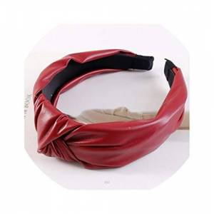 ALWAYS ME Diadema de piel sintética para el pelo de otoño, invierno, estilo turbante, red hairband, Tamaño
